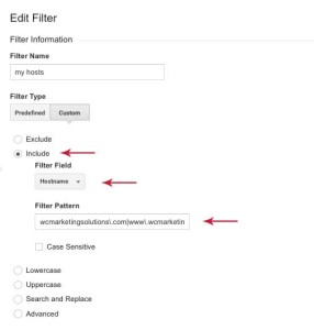 Google Analytics filter step 6 - Wise Choice Marketing Solutions
